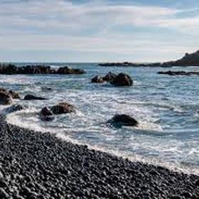 Visit the Black Pebble Beach (Cobble Beach) in Newport Oregon - Bucket List Ideas