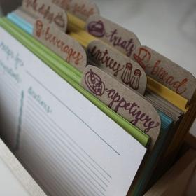 Fill my recipe box - Bucket List Ideas