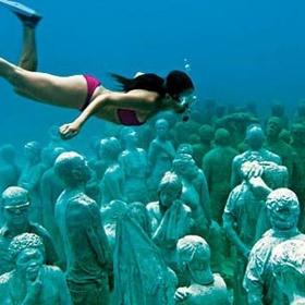 Scuba dive in Cancun's Underwater Museum - Bucket List Ideas