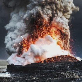 Flying over volcano - Bucket List Ideas