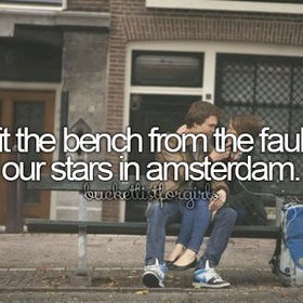 """Visit the """"fault in our stars"""" bench - Bucket List Ideas"""