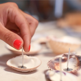 Make Candles out of Seashells - Bucket List Ideas