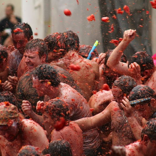 Have a Food Fight - Bucket List Ideas