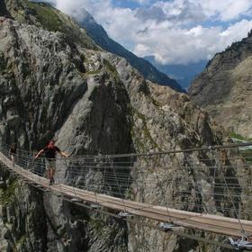 Walk across Trift Bridge in Switzerland - Bucket List Ideas