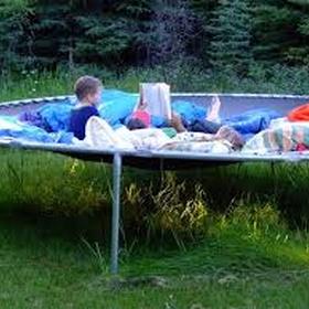 Sleep on a trampoline - Bucket List Ideas
