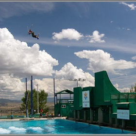Jump off the ski ramp in Utah 's olympic pool - Bucket List Ideas