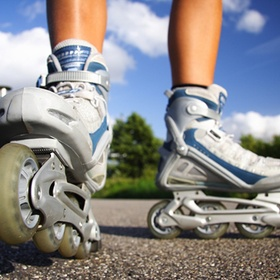 Learn to skate with inline skates - Bucket List Ideas