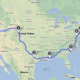 Road trip coast to coast USA - Bucket List Ideas