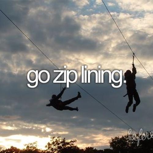 Go zip-lining - Bucket List Ideas