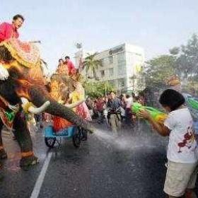 Songkran (Thailand new years) worlds largest water fight - Bucket List Ideas