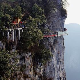 Walk the Tianmen Mountain glass walkway (4,000 ft high!) Hunan Province, China - Bucket List Ideas