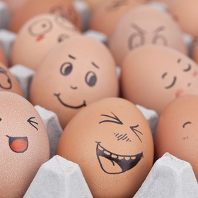 Draw funny faces on all the eggs in my fridge - Bucket List Ideas