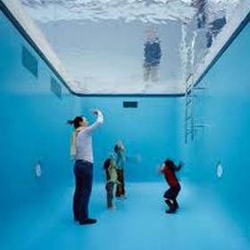 Walk into the fake pool in Japan - Bucket List Ideas