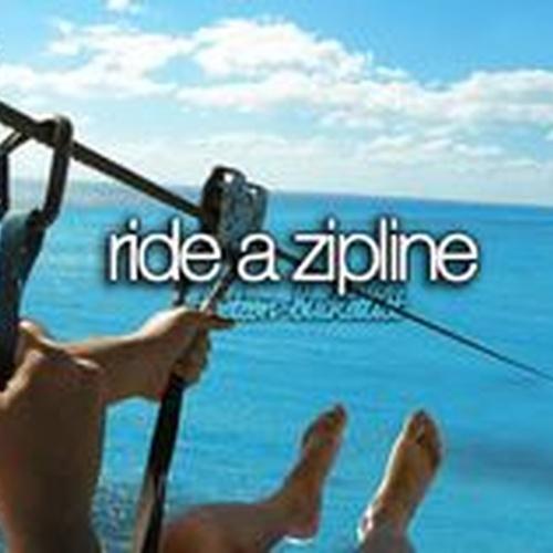 Ride a zipline - Bucket List Ideas