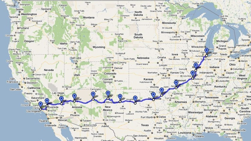 Route 66 Map How Long To Drive Bucketlist » Drive Route 66 (Official Bucket List) Route 66 Map How Long To Drive