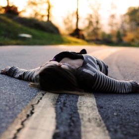 Lay in the Road in the Middle of the Night - Bucket List Ideas