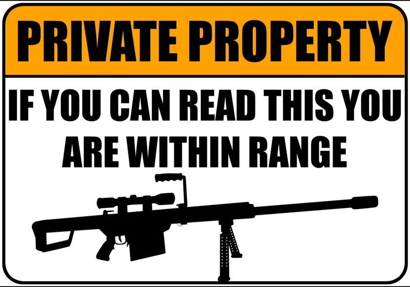 Image result for private property trespassers will be shot