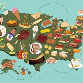Eat an iconic food that originated from each of the 50 States in the US - Bucket List Ideas