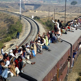 Ride on top of a train in India - Bucket List Ideas