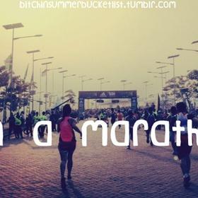 Run a marathon/half marathon - Bucket List Ideas