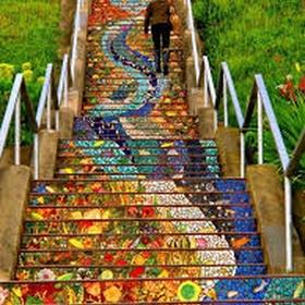 Walk up San Francisco's Secret Mosaic Staircase - Bucket List Ideas