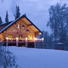 Christmas holiday in a log cabin in the snow - Bucket List Ideas