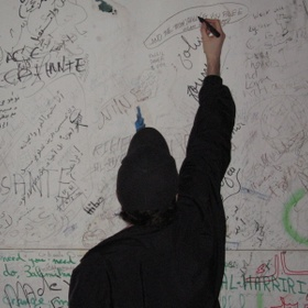 Write poetry on a wall - Bucket List Ideas