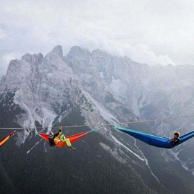 Camp on a high wire rigged across mountain tops - Bucket List Ideas