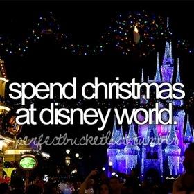 Spend Christmas in Disney World - Bucket List Ideas
