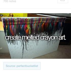 Make Melted Crayon art - Bucket List Ideas
