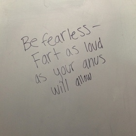 Write Something On A Bathroom Stall - Bucket List Ideas