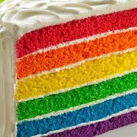 Bake a rainbow layer cake from scratch - Bucket List Ideas