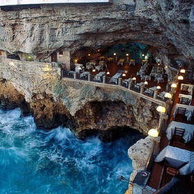 Dine at Grotta Palazzese in Italy - Bucket List Ideas