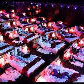 Go to the all-beds movie theater in Greece - Bucket List Ideas