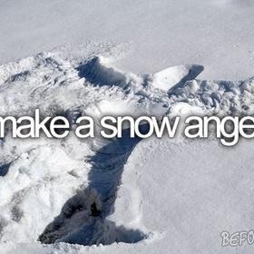 Make a Snow Angel - Bucket List Ideas