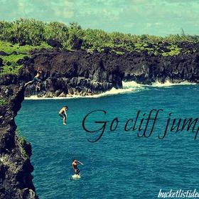 Go Cliff Jumping! - Bucket List Ideas