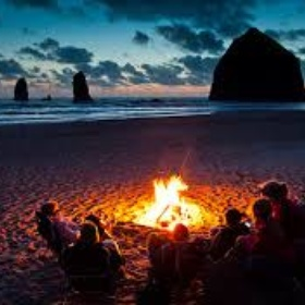 Have a bonfire and camp on the beach with friends - Bucket List Ideas