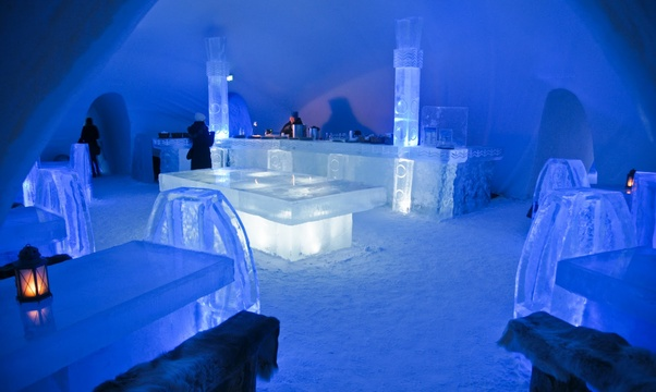 Stay in an ice hotel - Bucket List Ideas