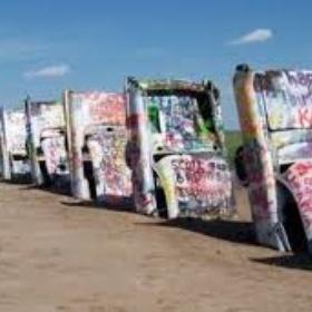 Paint on Cadillac stonehenge-Texas - Bucket List Ideas