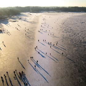 Go Ice Skating on Paterswoldse Meer in Netherlands - Bucket List Ideas