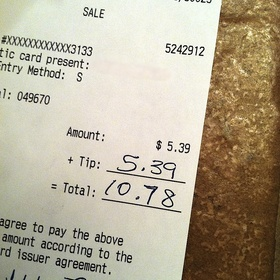 Leave a 100% tip for a server - Bucket List Ideas