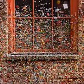 Put a piece of gum on the gum wall in Seatle - Bucket List Ideas