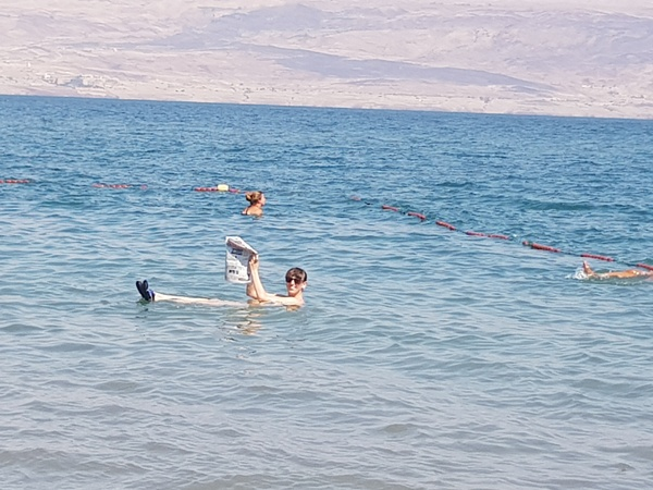 Float in the dead sea and read a newspaper - Bucket List Ideas