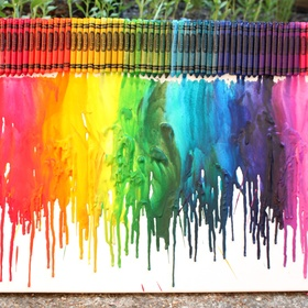 Melt crayons onto a canvas - Bucket List Ideas