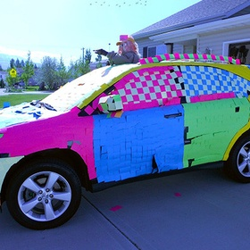 Cover someone's car in Post-it notes - Bucket List Ideas