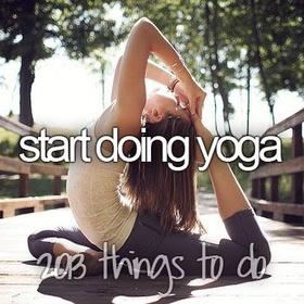 Start doing yoga - Bucket List Ideas