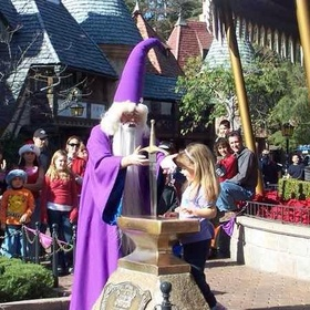 See one of my kids pull the sword from the stone @ Disneyland - Bucket List Ideas