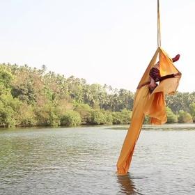 Aerial Silk over water/ under a bridge - Bucket List Ideas