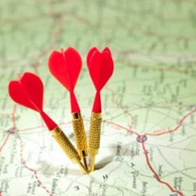 Jogar um dardo no mapa e viajar para o lugar que sair - Bucket List Ideas