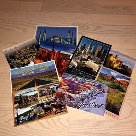 Send 20 postcards from all over the world - Bucket List Ideas